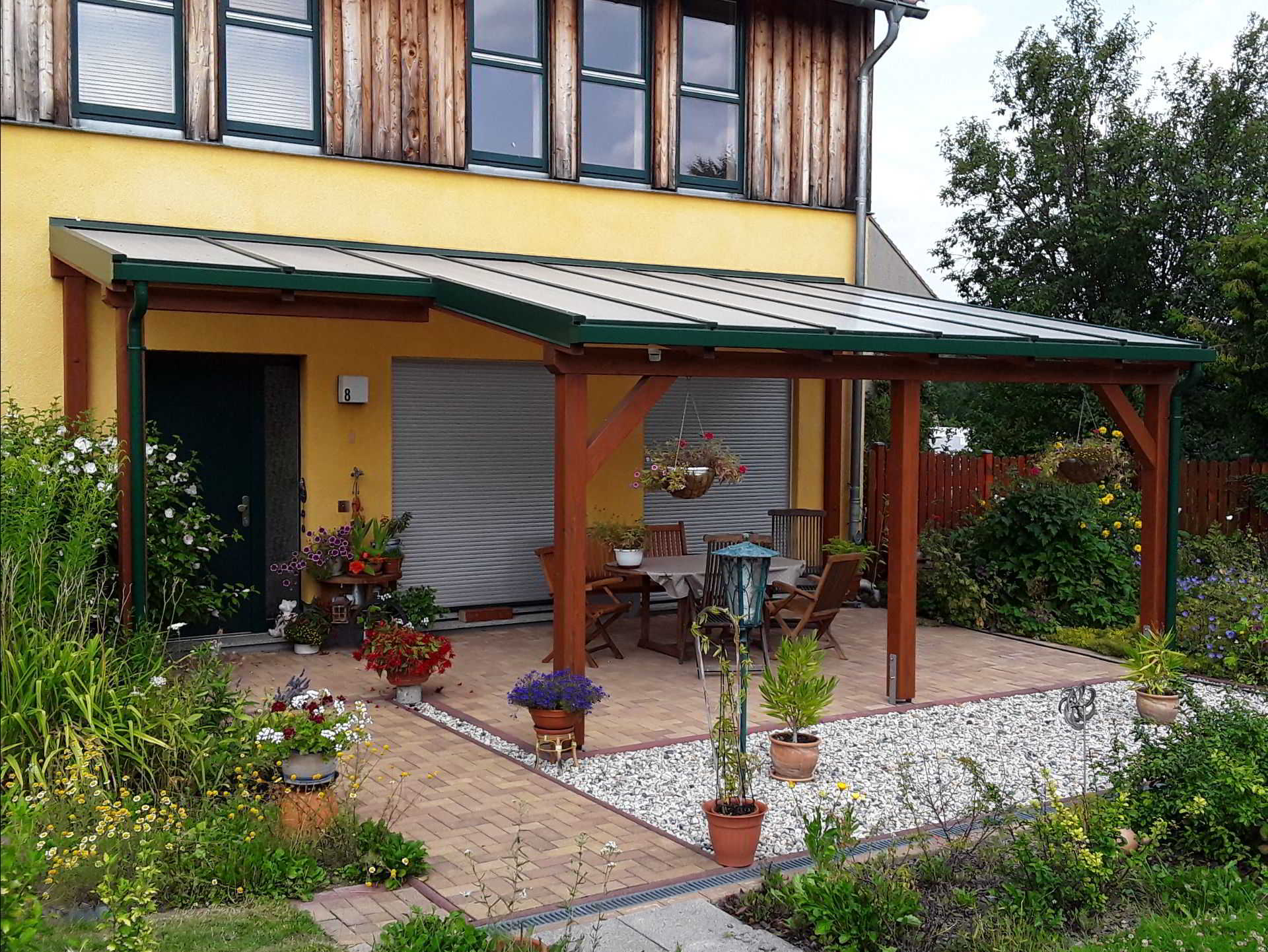 Hds Terrassenuberdachung Terrassendach Aluminium Holz